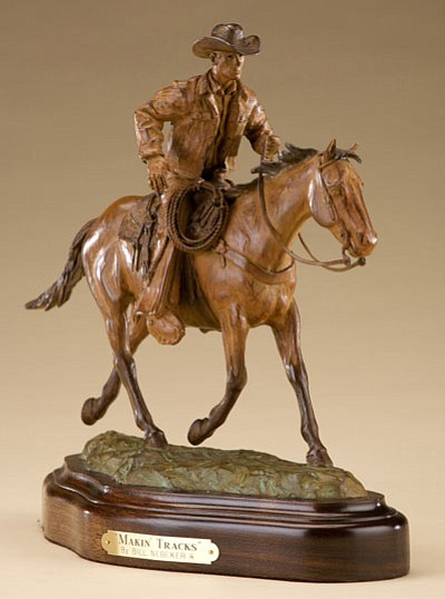 "Bill Nebeker's bronze ""Makin' Tracks."" (Courtesy photo)"