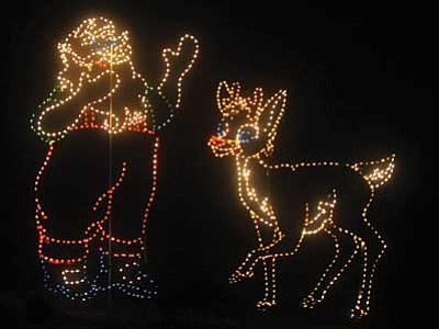 Les Stukenberg/The Daily Courier<br> Valley of Lights at Fain Park, 2200 N. 5th St. in Prescott Valley from 6 p.m. to 10 p.m. until Dec. 30. Drive through the park to view more than three dozen huge, themed lighted displays along the way. Donations encouraged.