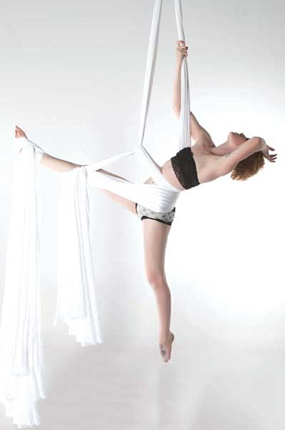 Courtesy photo<br> Musician-aerialist Ty Eaton.