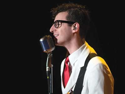 "Courtesy photo<br> ""Rave On! A Salute to Buddy Holly, Ritchie Valens, the Big Bopper and Dion & the Belmonts"" showcases the music of the Winter Dance Party Tour (the final concert of Buddy Holly – pictured, Ritchie Valens, and The Big Bopper)."