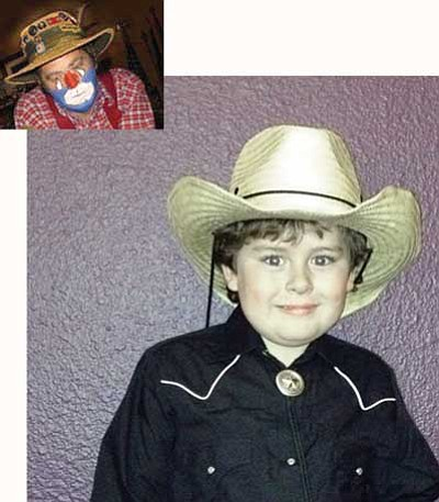 Six-year-old Jake Glow will perform alongside Will Pearson (without the clown makeup) at the Prescott Opry's Jan. 8 event.  Courtesy photos