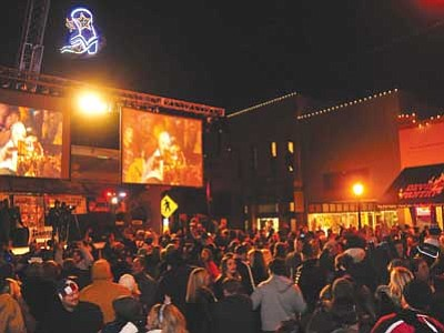 Courier file photo<br> The Whiskey Row Boot Drop rings in New Year's with fun and entertainment.