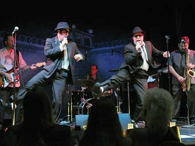 "Courtesy photo<br> ""Blues & Soul Explosion"" brings the Blues Brothers, Elwood, left, and Jake to Prescott with a hot backing band on Jan. 17 at the Elks Theatre."