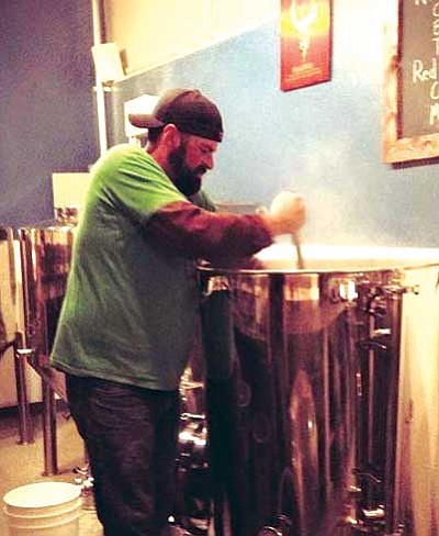 Brewing at Granite Mountain is underway.  (Courtesy photo/Audra Yamamato)