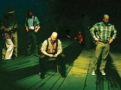 """Courtesy photo<br> An image from practice for """"The Grapes of Wrath,"""" which opens Feb. 26."""