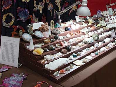 Courtesy photos<br> Minerals, crystals, gems and jewelry, among many other things will be available at the Sedona show May 23-24.