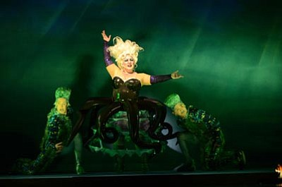 "Cassandra Klaphake as Ursula in Arizona Broadway Theatre's production of ""The Little Mermaid."""