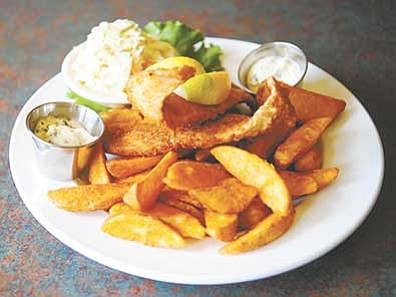 Les Stukenberg/The Daily Courier<br> Fish and Chips at the Prescott Brewing Company.