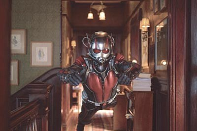 "Paul Rudd appears as Scott Lang/Ant-Man in a scene from Marvel's ""Ant-Man."" The film releases in the U.S. on July 17. (Zade Rosenthal/Disney/Marvel via AP)"