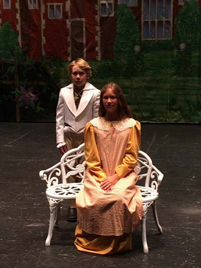 "Daxton Hedge and Emma Steverson are in the cast of Yavapai College Music Department's fall musical ""The Secret Garden."" It runs from Thursday, Oct. 22 to Sunday, Oct. 25.<br /><br /><!-- 1upcrlf2 -->(Jason Wheeler/Daily Courier)"