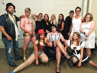 "Lonesome Valley Playhouse puts on the cult classic ""The Rocky Horror Picture Show"" at 9:30 p.m. Friday Oct. 31, and Nov. 6 at the Prescott Valley Entertainment District, 2991 N. Park Ave.  (Courtesy photo)"
