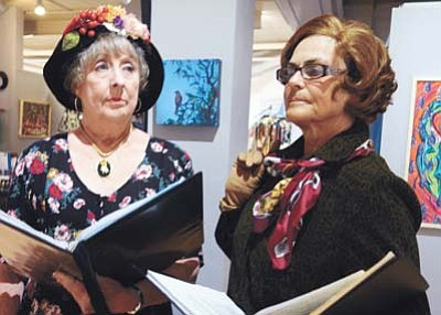 "Rexanne Bell and Julie Cargill are set to perform in ""Lettice and Lovage"" for the PCA Readers Theater from Thursday, Nov. 5, to Sunday, Nov. 8, at Stage Too, the Prescott Valley Library and Chino Valley Seniors Center.<br /><br /><!-- 1upcrlf2 -->(Courtesy/Arlene Minuskin)"