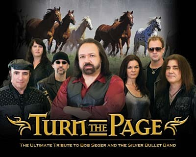 Turn the Page: The Ultimate Tribute to Bob Seger & the Silver Bullet Band, performs at 7 p.m. Friday, Nov. 20, at the Elks Theatre and Performing Arts Center, 117 E. Gurley St. (Courtesy/Turn the Page)