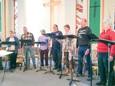 The Camerata Singers, shown in rehearsal, is a professional singing group whose repertoire runs from classical music to spirituals and from jazz to world-premieres of new choral  music. (Courtesy photo)
