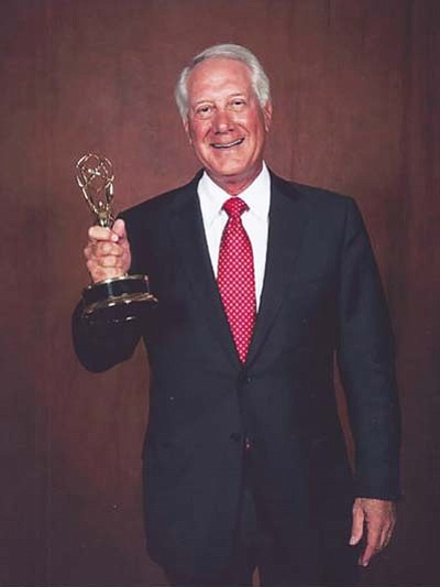 "Bob Caroli of Prescott won his second Rocky Mountain Regional Emmy Award for his voiceover work on the Cardinals' ""Season in Focus"" Zoom segment. (Courtesy photo)"