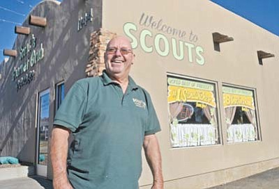Terry Huebner, owner of Scouts Gourmet Grub in Prescott, bought the restaurant with his wife, Dixie, from his friend in 2008.