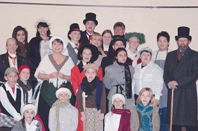 "The cast of ""Scrooge."""