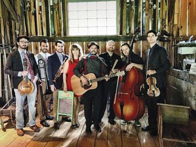Dust Bowl Revival, a group that merges old school bluegrass, gospel, pre-war blues and the hot swing of New Orleans, is scheduled to perform at 7:30 p.m. Saturday, Jan. 9,  at the Prescott Center for the Arts. (Courtesy/Dust Bowl Revival)