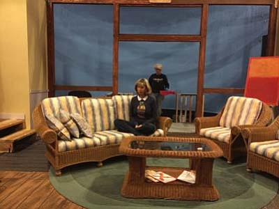 """Director Catherine Miller Hahn sits on the set for """"Vanya & Sonia & Masha & Spike."""" The play debuts Thursday, Jan. 21.<br /><br /><!-- 1upcrlf2 -->(Jason Wheeler/The Daily Courier)"""