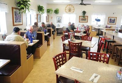 Diners enjoy a late lunch at the Blue Hills Cafe Wednesday afternoon, Jan. 6.