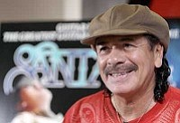 Julie Jacobson/The Associated Press<br> In this Aug. 26 file photo, Carlos Santana answers questions during an interview in Las Vegas.
