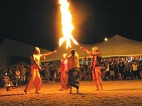 Prescott Firefighters' Charities/Courtesy photo<br> Pyroklectic performs a fire dancing show at last year's luau.