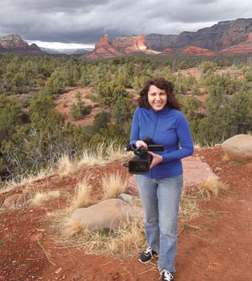 Mark Duncan/The Daily Courier<br>Filmmaker Tara Golden is planning a trip to Copper Canyon, Mexico, from her home in Sedona.