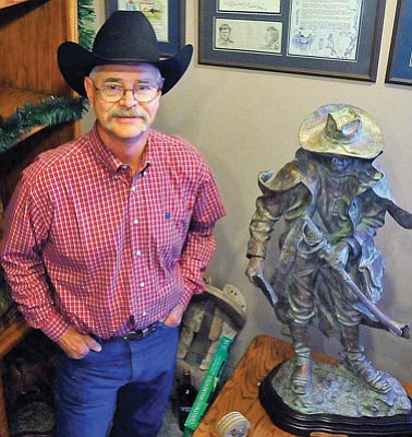 Matt Hinshaw/The Daily Courier<br>Bill Nebeker is being honored with 2012's Lifetime Contribution to the Arts of Yavapai County award at this year's Buckey Awards.