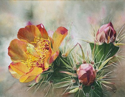 Works like this watercolor by Holly Harman are on display at the Mountain Artists Guild & Gallery at 228 N. Alarcon St. in Prescott