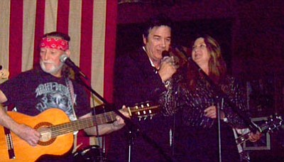 'Willie Nelson', 'Johnny Cash', 'June Carter-Cash' at The Palace Restaurant