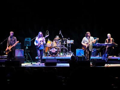 Courtesy photo<br> Five Way Street performs the tunes of Crosby, StIlls, Nash and Young. Band members, from left, are Fred Coy, Joe Murphy, Mark Gallegos, Mike Serres, Karl Moeller.