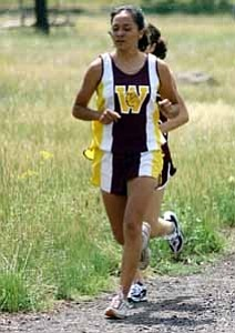 <i>Photo by Jeff Pope</i> <b>Janeen Yazzie paced the Bulldogs¹ in the first two meets of the 2005 season.</b>