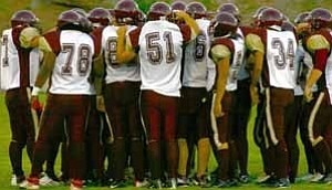 <i>Photo from archives</i><b>The Winslow Bulldogs are on a roll with another win last week. The team defeated the Ganado Hornets, 42-0.</b>