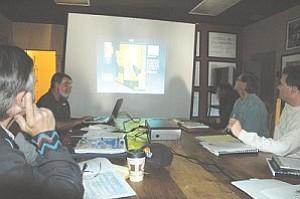 APS representatives meet with City of Winslow staff at the La Posada hotel.