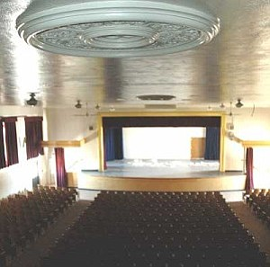 Inside of the auditorium at the Old Winslow High School.