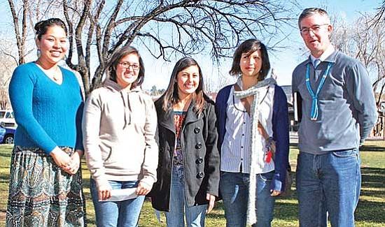 <i>Courtesy photo</i><br> From left to right: TNANAF Board Member Genevieve Bennally, Courtney Etsitty, Violeta Caballero, Samantha Leffler and Brian Buckley.