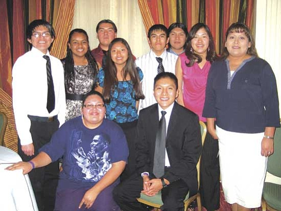 <i>Photo by Stan Bindell/NHO</i><br> Hopi High Close Up students were dressed up for the Close Up inaugural ball.