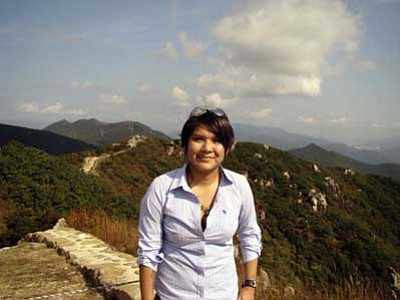 Chasity D. Begay in South Korea.