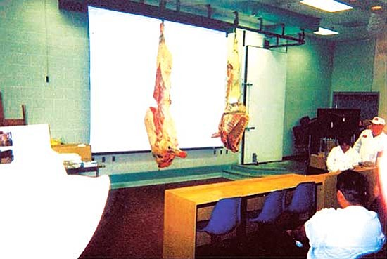 "<i>Courtesy photo</i><br> The UA Meat Laboratory provides participants of ""Rez to Rail"" hands-on education workshops and demonstrations, such as meat processing."
