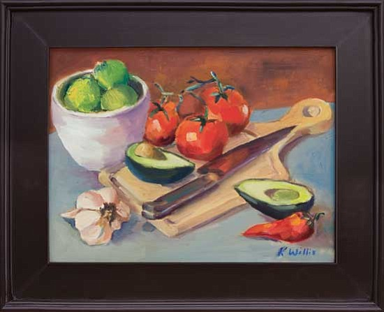 "<i>Courtesy photo</i><br> The 2009 Palette to Palate signature piece, ""Guacamole Palette"" by Kathy Willis."