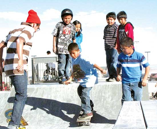 <i>Photo by Anton Wero/NHO</i><br> Young skaters dream of the day when they will take over the skate park.