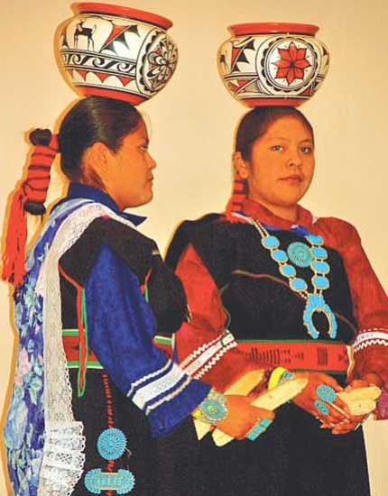 <i>Photo by Michele Mountain/MNA</i><br> Young Olla Maidens at the 2008 Zuni Festival.