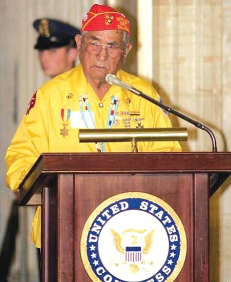 "<i>Courtesy photo</i><br> Navajo Code Talker John Brown Jr. passed away May 21 at the age of 88. President Joe Shirley Jr. stated that he was ""one of the Navajo Nation's great warriors."""