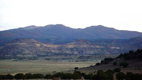 """<i>Courtesy photo</i><br> Early morning photo of Mt. Taylor, known as """"Tso Dzil"""" in the Din&#233; language, is one of the four sacred mountains in Navajo mythology and revered by at least 30 additional tribes."""