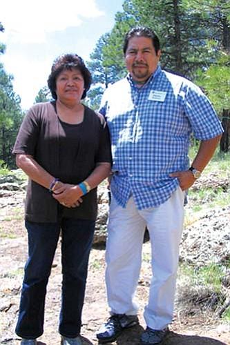 """<i>HEEF courtesy photo</i><br> Hopi Jewelers Verma """"Sonwai"""" Nequatewa and Duane Maktima."""
