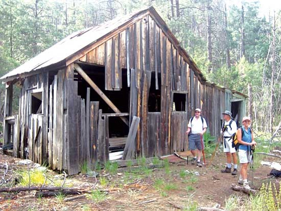 <i>Stan Bindell/NHO</i><br> Prescott hikers check out the old Palace Station.