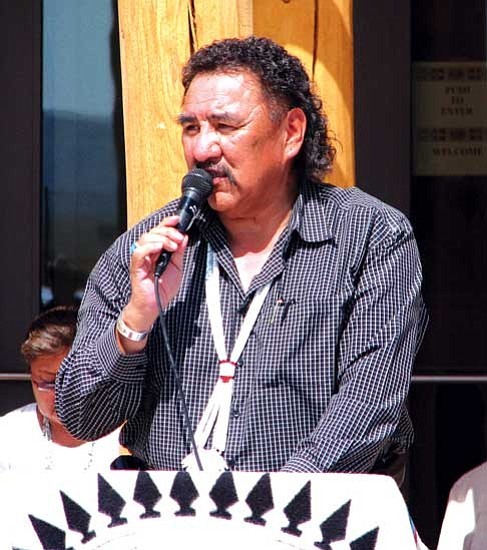 <i>Christian Bigwater/NNSO</i><br> The Navajo Nation celebrated the grand opening of the Dilkon District Court on July 31. Council Speaker Lawrence T. Morgan was a guest speaker at the event.