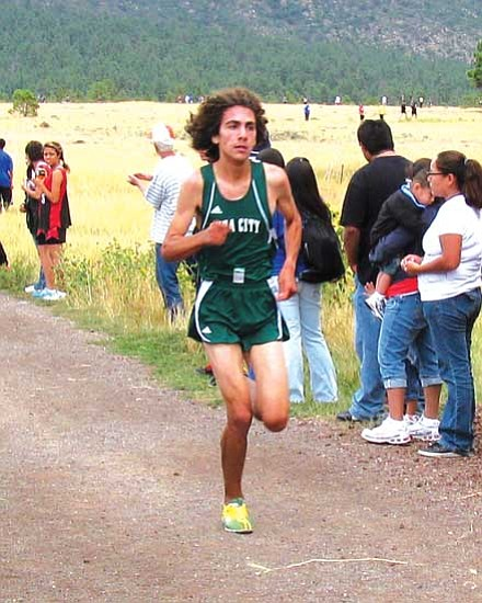 <i>Photo by Carl Perry</i><br> Billy Orman ran 28 seconds faster than the previous course record to finish second overall.