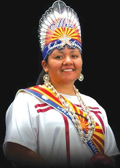 Earleen Patricio, Miss Indian Arizona 2008-2009. Six outstanding Native American women will vie for the title of Miss Indian Arizona 2009-2010 on Oct. 10.