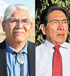 Leroy Sumatzkuku (left) and Herman G. Honanie are the final two candidates for the Hopi Vice Chairman's position after last Wednesday's primary election. They will face off in the general election on Nov. 18.